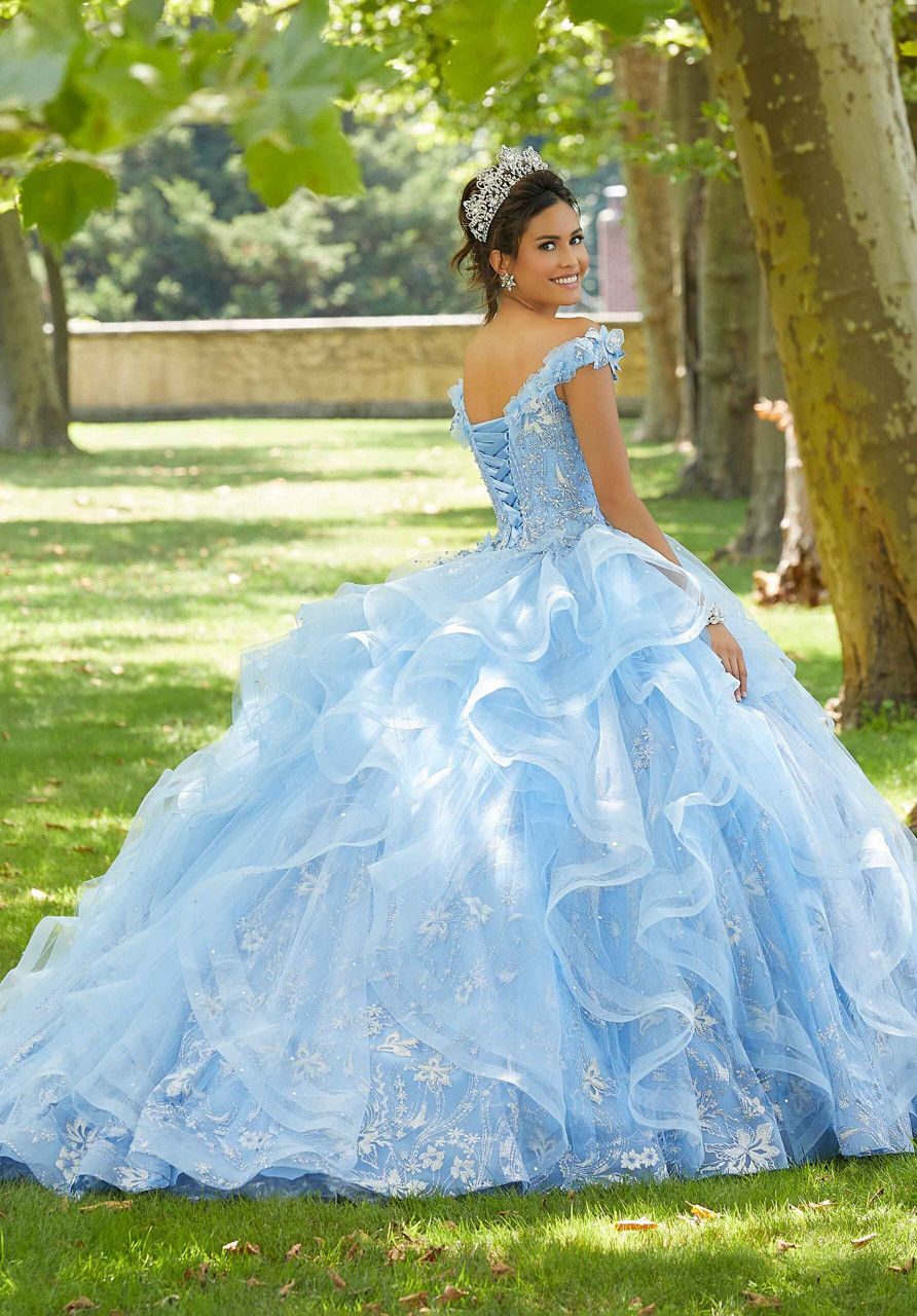 Morilee 89303 Floral Glitter Tulle Quinceanera Dress