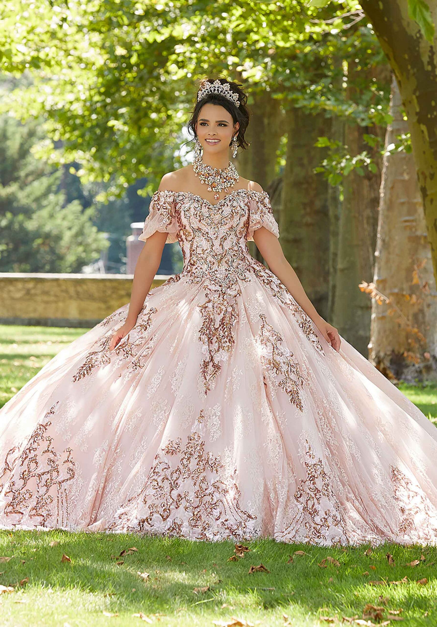 Morilee 89304 Crystal Beaded Lace Quinceanera Dress