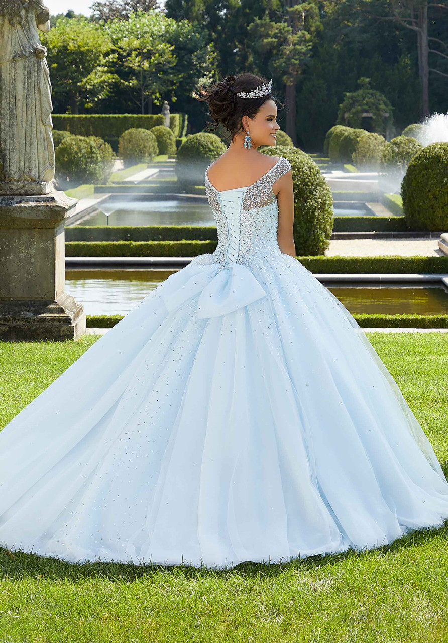 Morilee 60131 Pearl and Crystal Glitter Quinceanera Dress