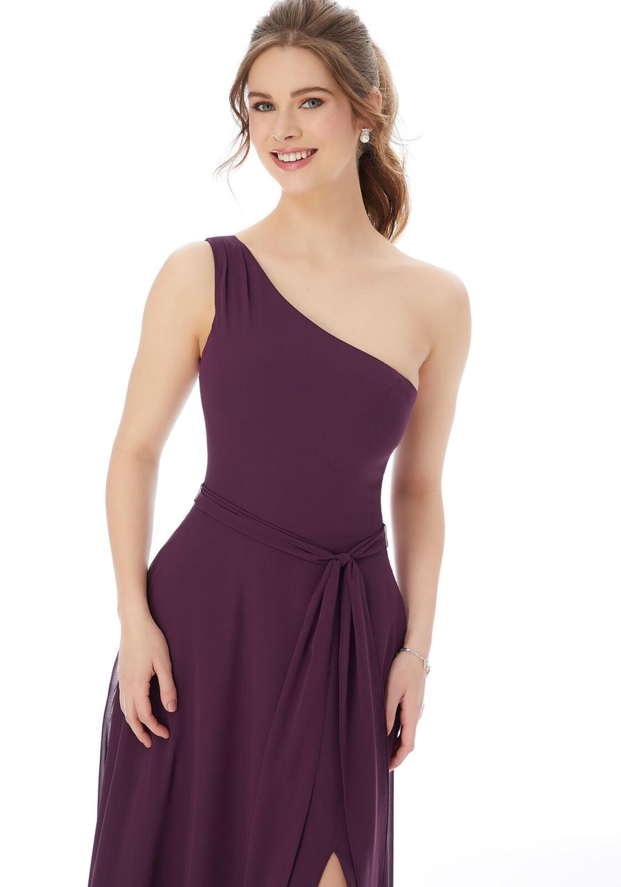 Morilee 13105 One Shoulder Chiffon Bridesmaid Dress