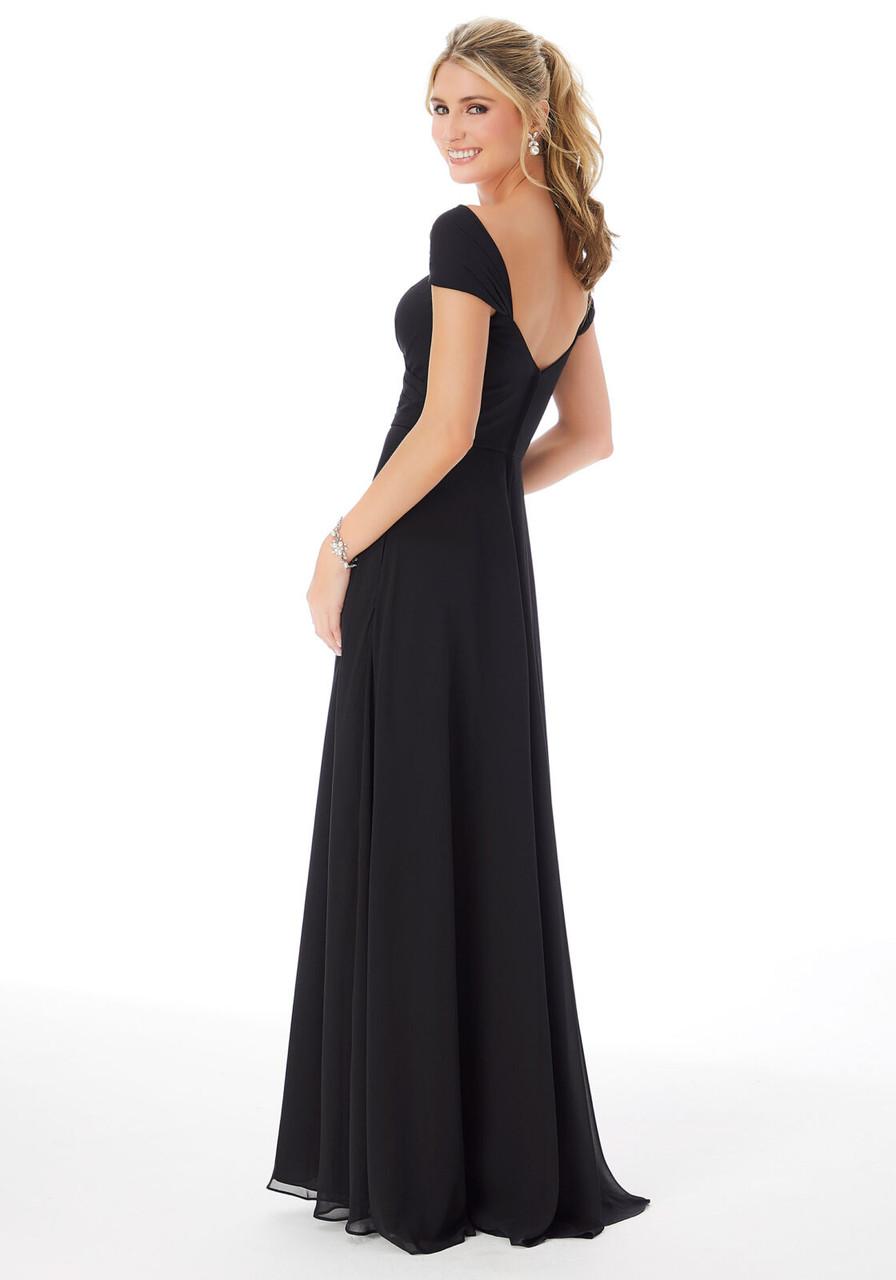 Morilee 13106 Cap Sleeve Chiffon Bridesmaid Dress
