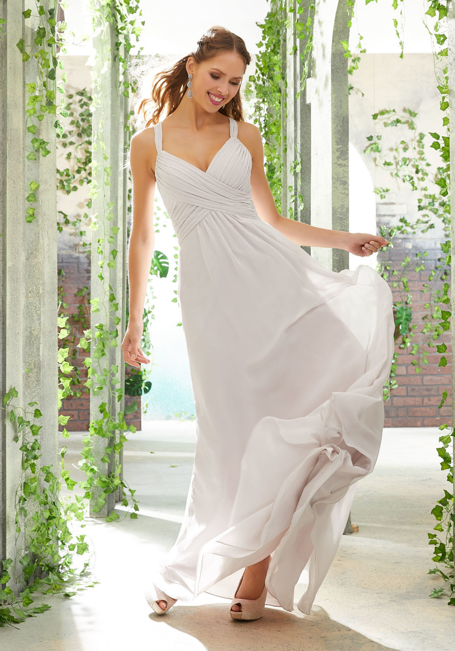 Morilee 21608 Ruched Draped Bodice Chiffon Bridesmaid Dress