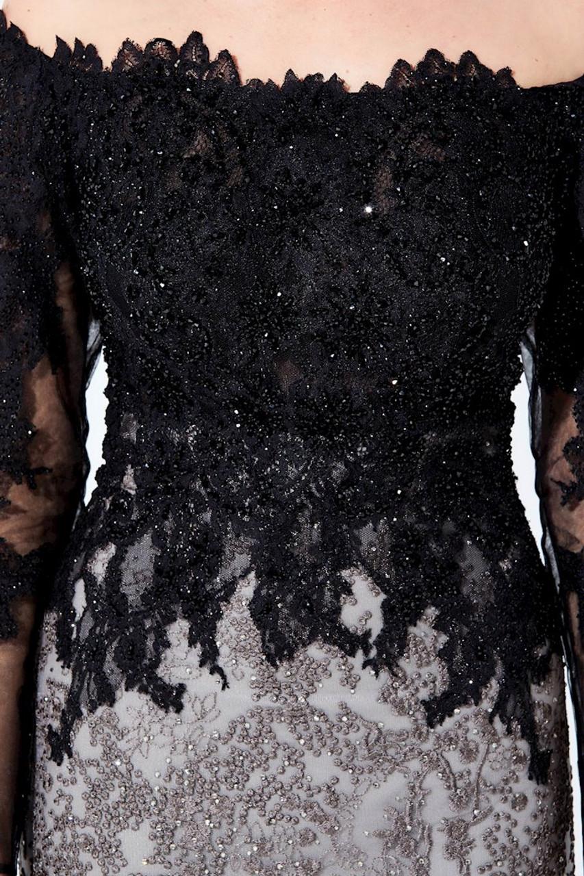 Ivonne D by Mon Cheri 220D30 Off Shoulder Long Sleeves Dress