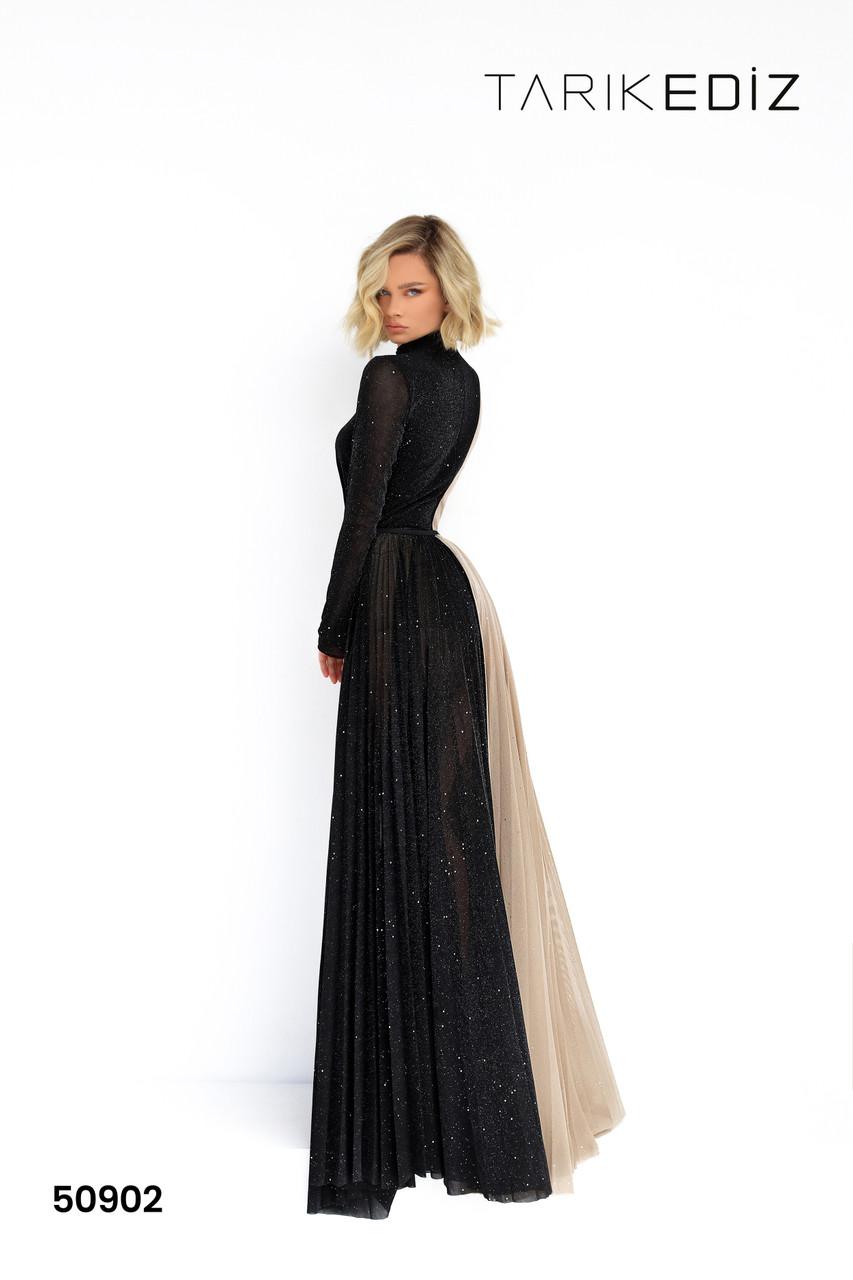 Tarik Ediz 50902 High Neck Long Sleeves Evening Dress