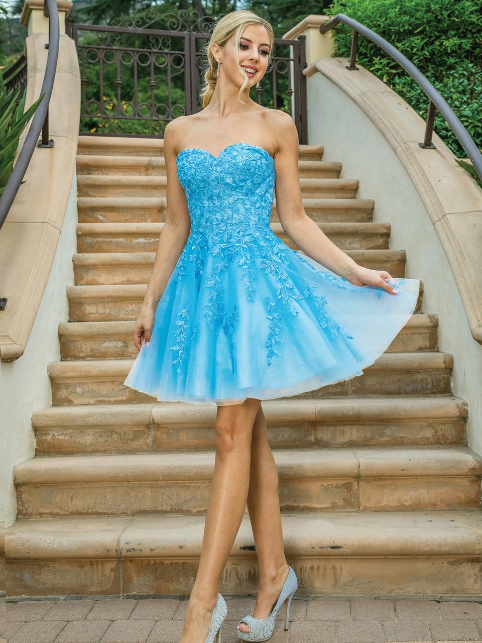 Dancing Queen 3271 Sleeveless Beaded V-neck Short Dress