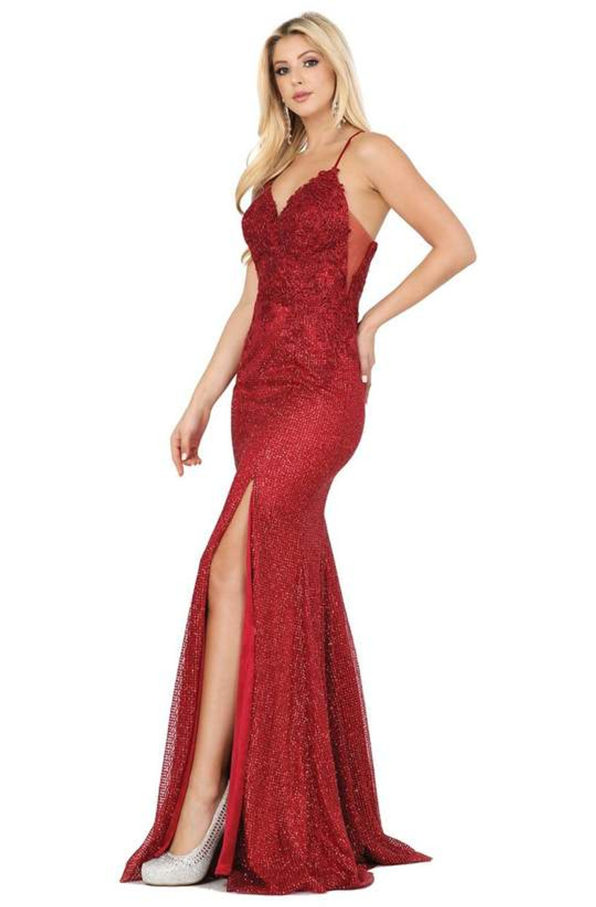 Dancing Queen 2896 Sleeveless Embroidered V-neck Long Dress