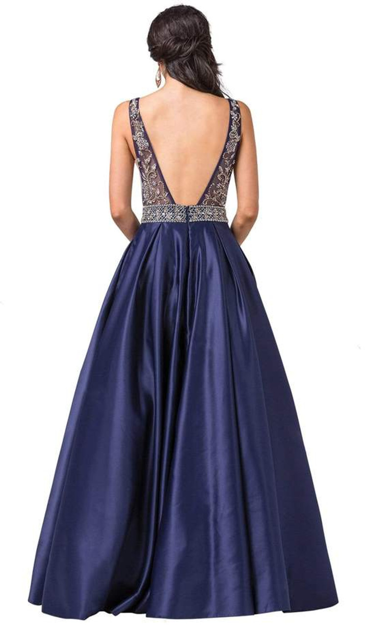 Dancing Queen 2512 Intricate Beaded Ladder Banded Gown