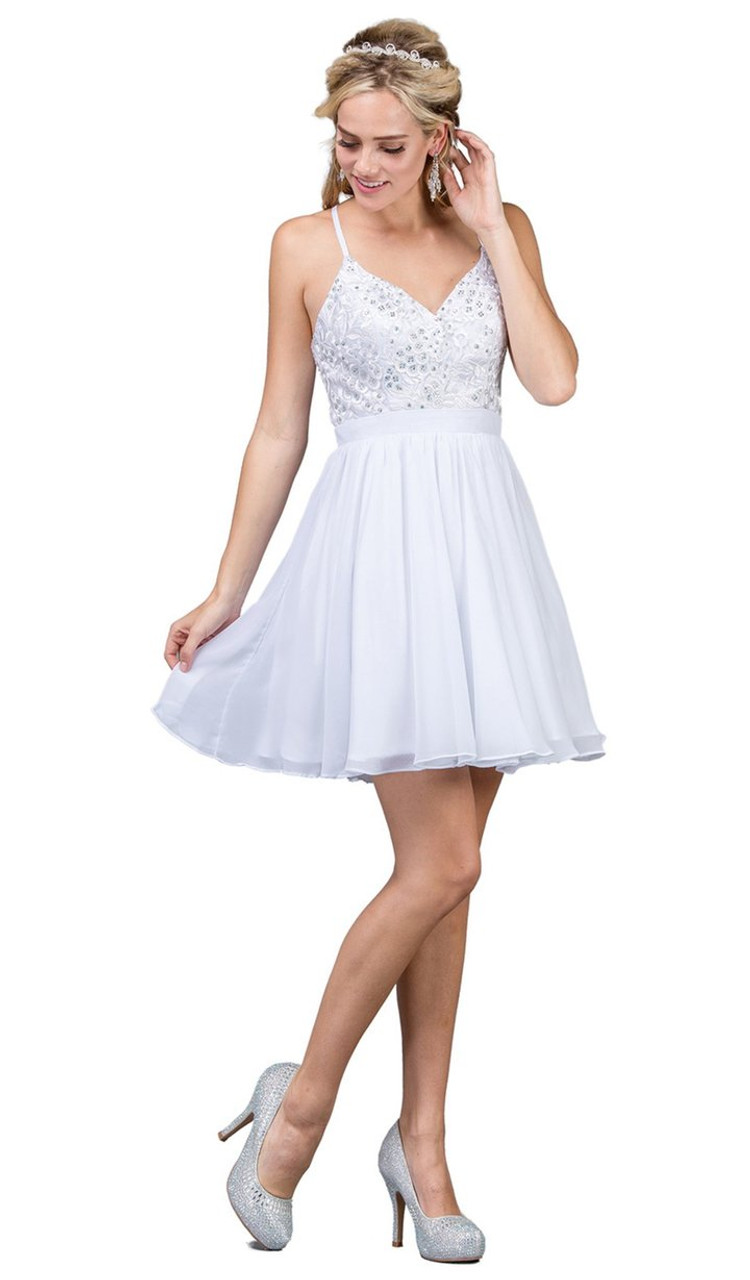 Dancing Queen 3088 Lace Embroidered Beaded Applique Dress