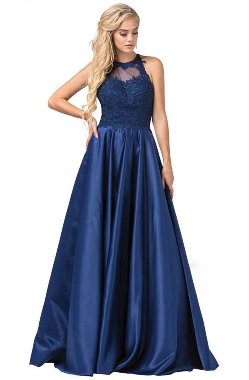 Dancing Queen 2625 Sleeveless Heart Shape Illusion Gown