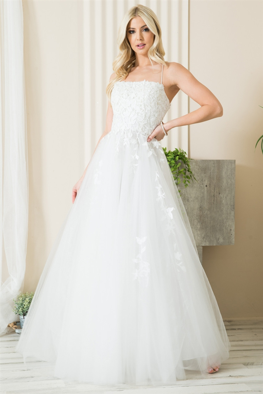 Amelia Couture 7007 Sleeveless Stunning Full-Length Gown