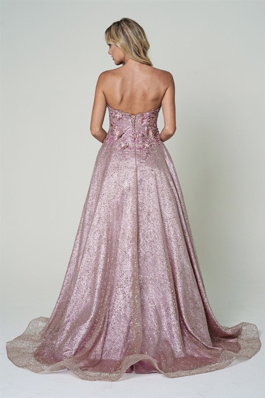 Amelia Couture 3058 Strapless Stunning Full-Length Gown