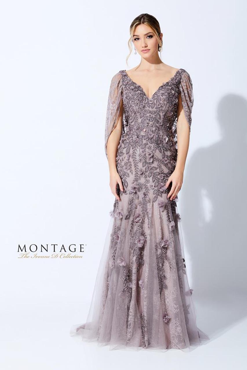 Ivonne D by Mon Cheri 221D41 V-Neck Fit and Flare Dress
