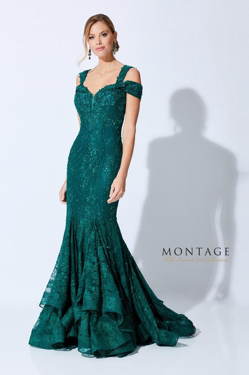 Ivonne D by Mon Cheri 221D43 V-Neck Trumpet Beading Dress