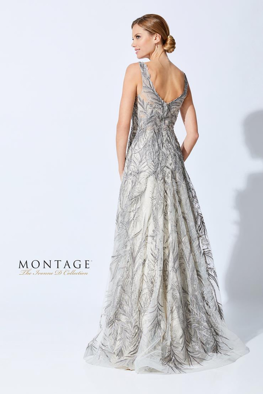 Ivonne D by Mon Cheri 221D45 V-Neck Sleeveless Beading Dress