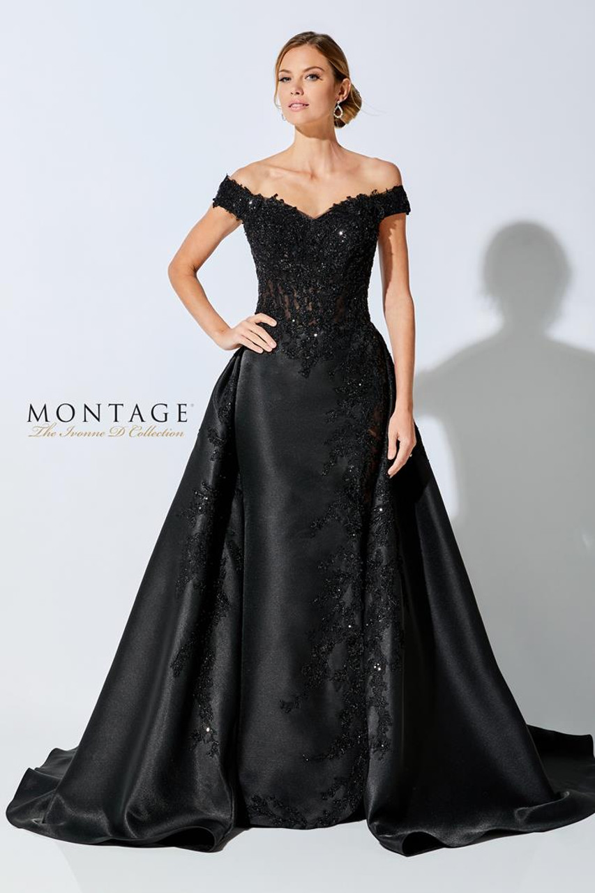 Ivonne D by Mon Cheri 221D51 Lace V-Neck Off Shoulder Dress