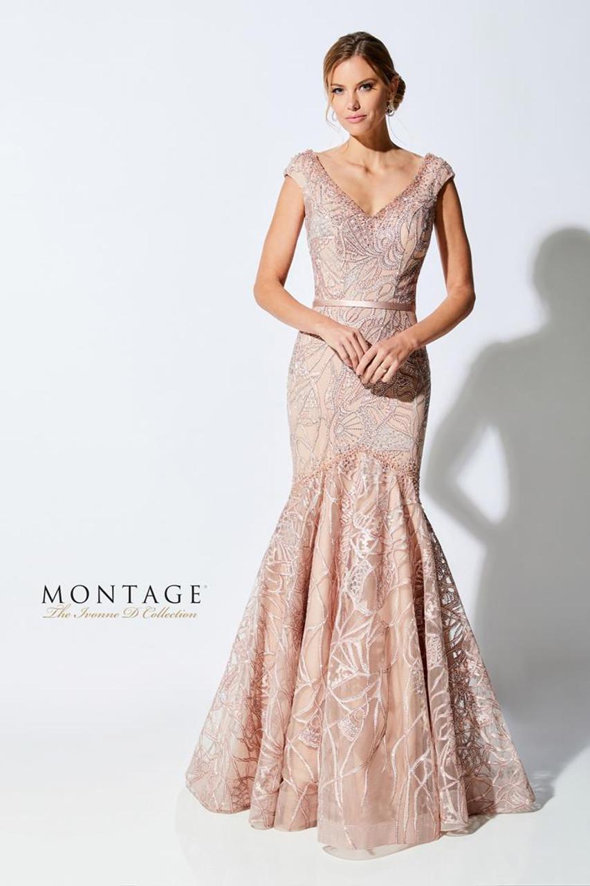 Ivonne D by Mon Cheri 221D53 V-Neck Sleeveless Beading Dress