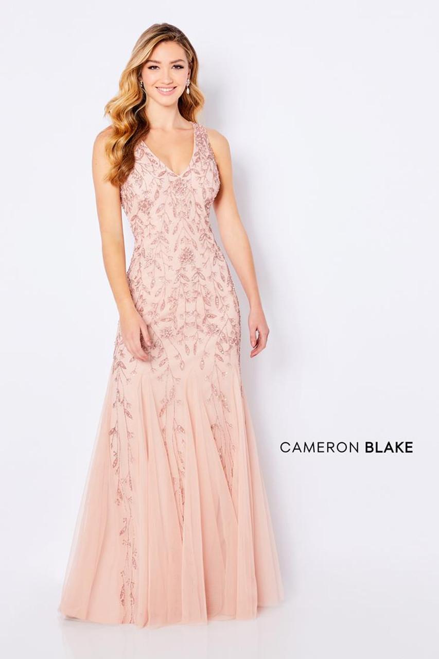 Cameron Blake by Mon Cheri 221684 Sleeveless Sheath Gown