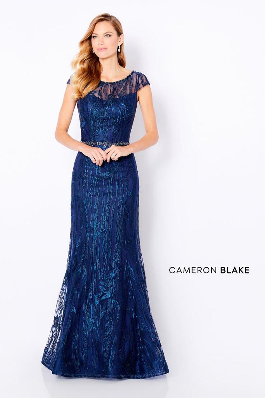 Cameron Blake by Mon Cheri 221685 Cap Sleeve Long Gown