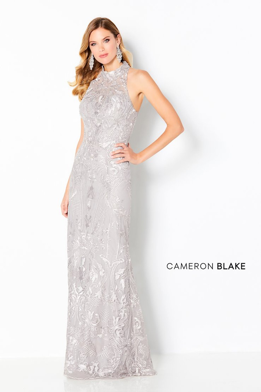 Cameron Blake by Mon Cheri 220645 Sleeveless High Neck Gown