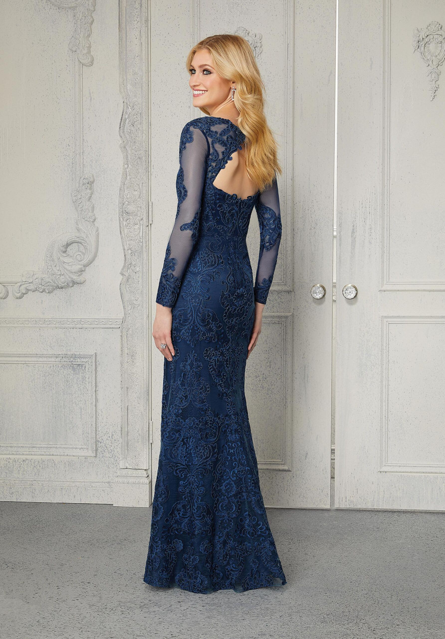 Morilee MGNY 72402 Lovely Long Sleeve Sheath Evening Gown