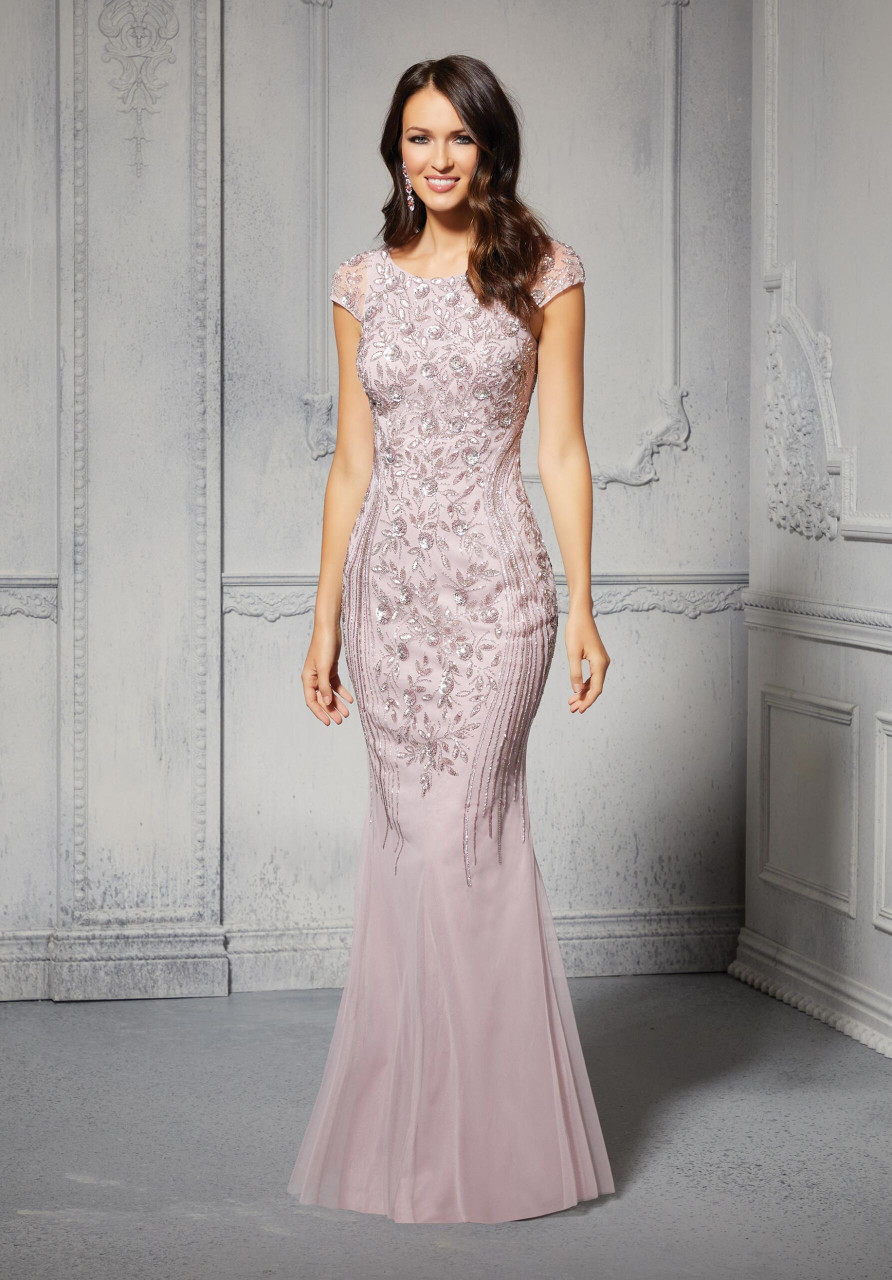 Morilee MGNY 72405 Allover Beaded Sheath Chic Evening Gown