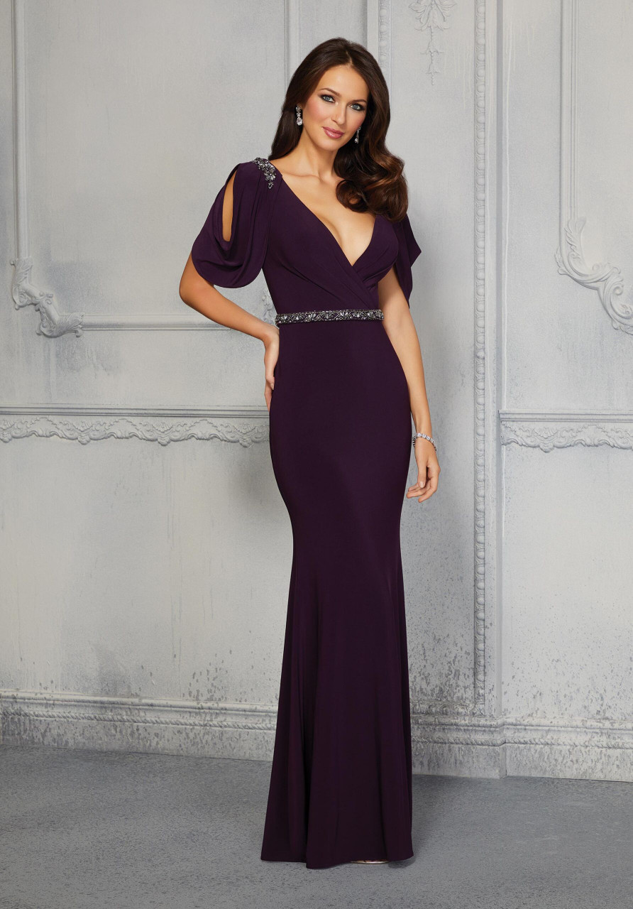 Morilee MGNY 72409 Crystal Beaded Sheath Evening Gown