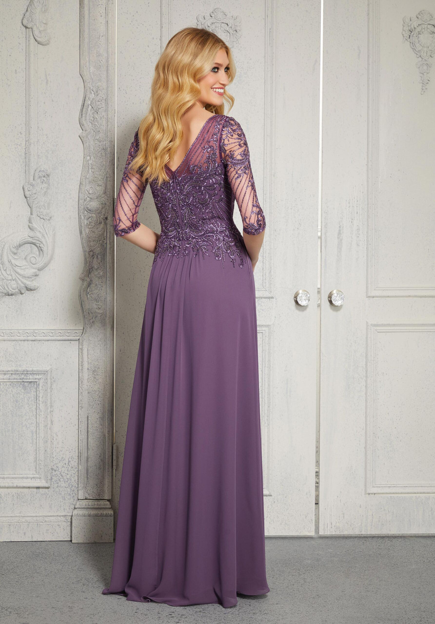 Morilee MGNY 72412 Beaded Embroidered Bodice Evening Gown