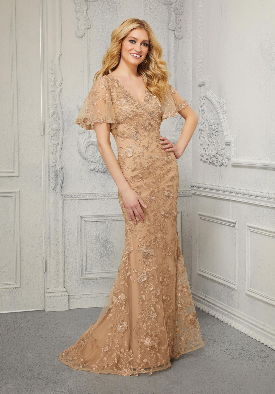 Morilee MGNY 72413 Allover Beaded Embroidered Evening Gown
