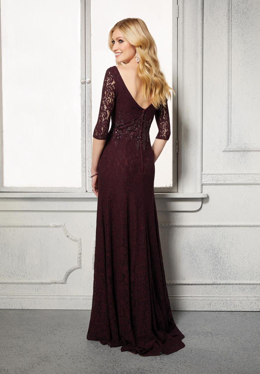 Morilee MGNY 72423 Sweetheart Neck Stretch Lace Evening Gown