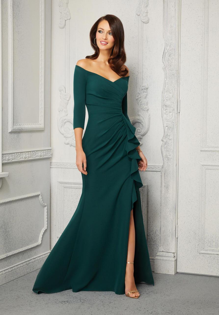 Morilee MGNY 72424 Fun Ruffle Ruffled Jersey Evening Gown