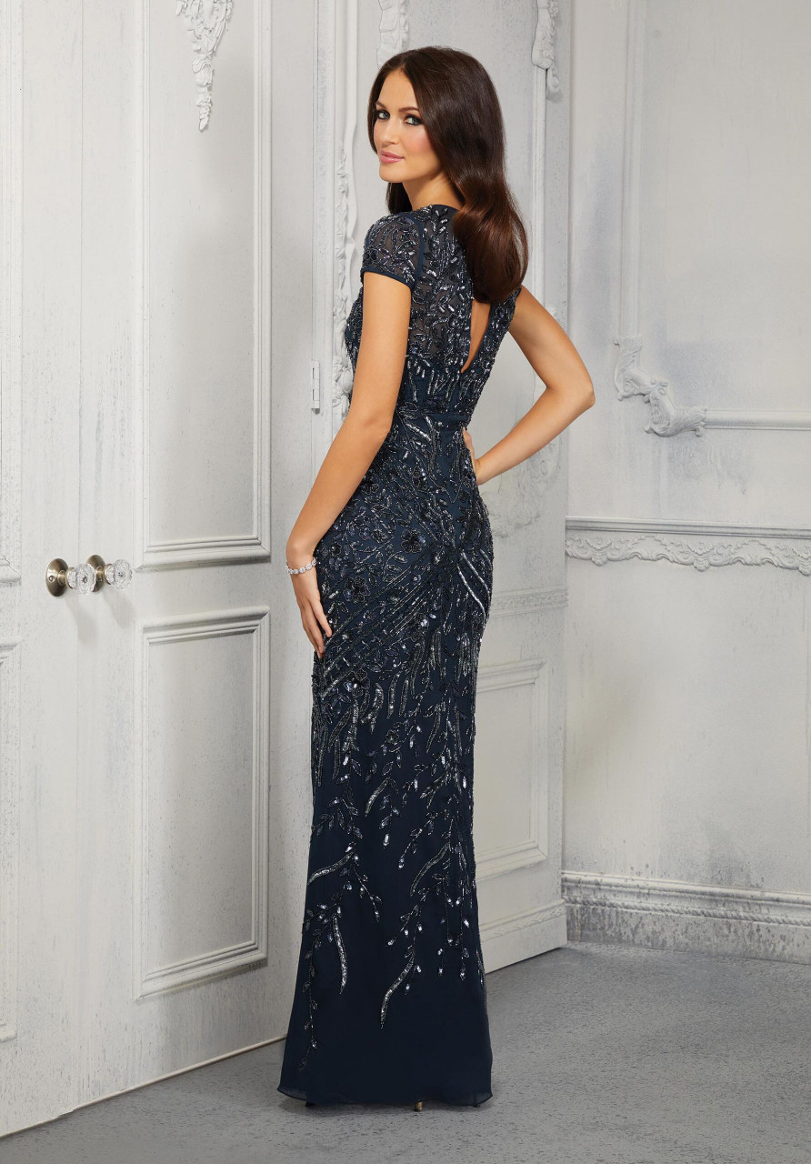 Morilee MGNY 72426 Sheath Allover Beaded Evening Gown