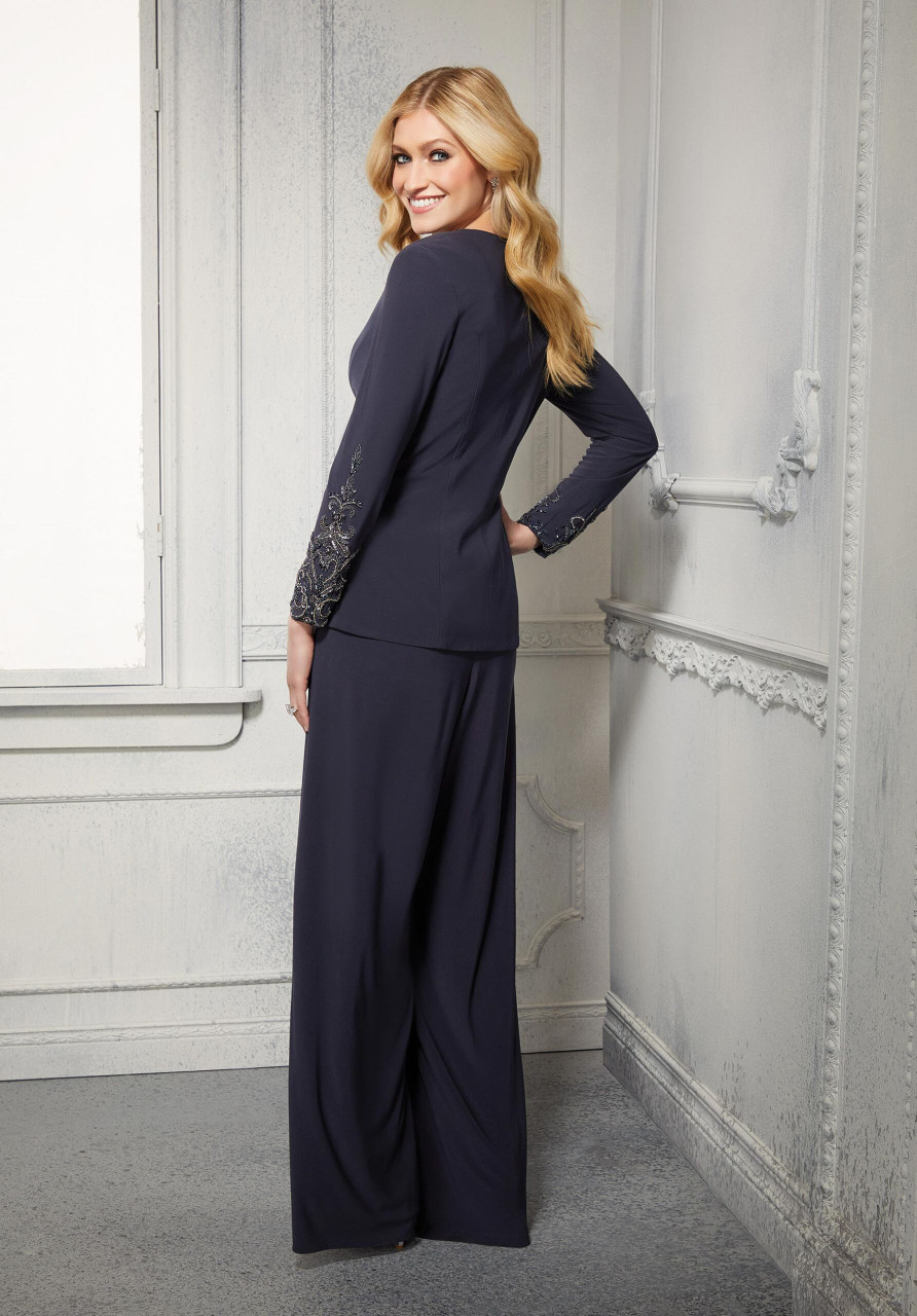 Morilee MGNY 72427 Wide-leg Three-piece Beaded Pant Suit
