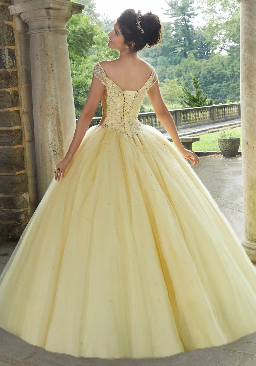 Morilee 60105 Crystal Beaded Embroidery Quinceanera Ballgown