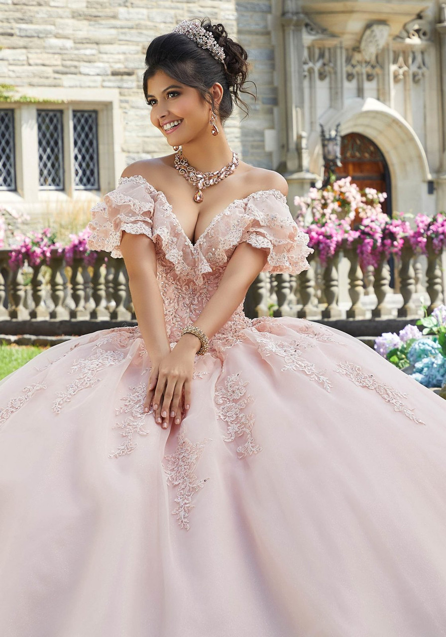 Morilee 60107 Crystal Beaded Lace Applique Quinceanera Ballgown