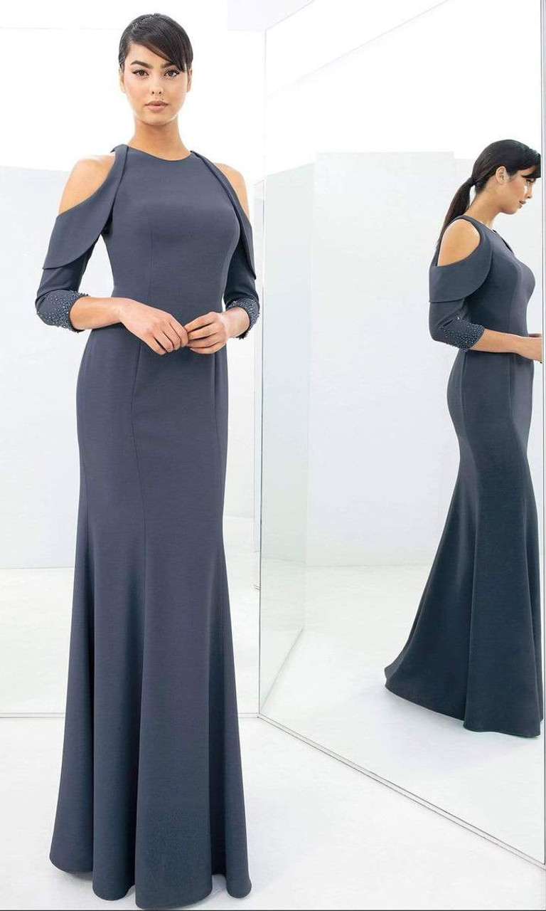Alexander by Daymor 1351 Crepe Fitted Mermaid Gown