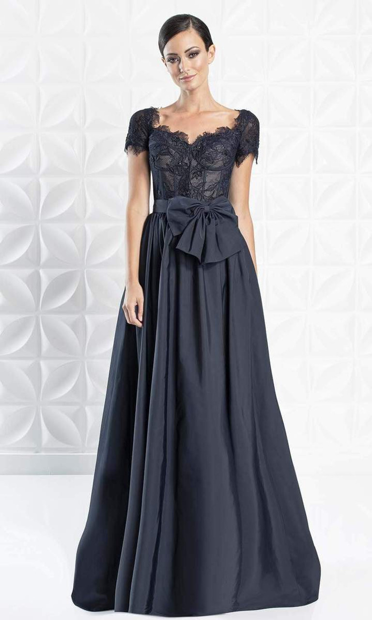 Alexander by Daymor 1264 Short Sleeve Sweetheart Long Gown