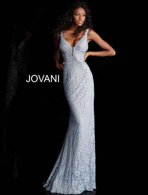 Jovani 48994 Lace Fitted Prom Long Dress