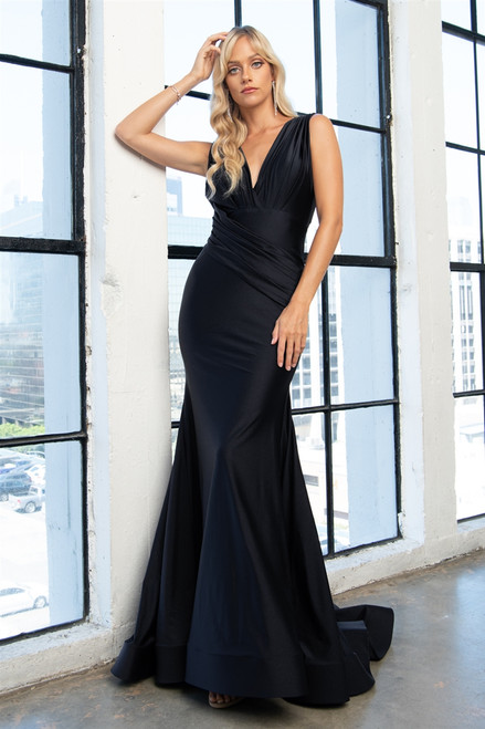 Amelia Couture 370 V-Neck Prom Dress