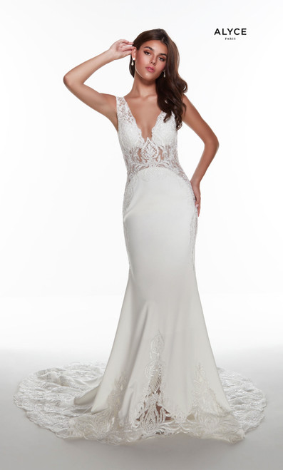 Alyce Paris 5065 Plunging Neckline Mermaid Long Dress