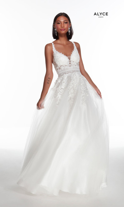 Alyce Paris 5087 Plunging Neckline Mermaid Long Ballgown