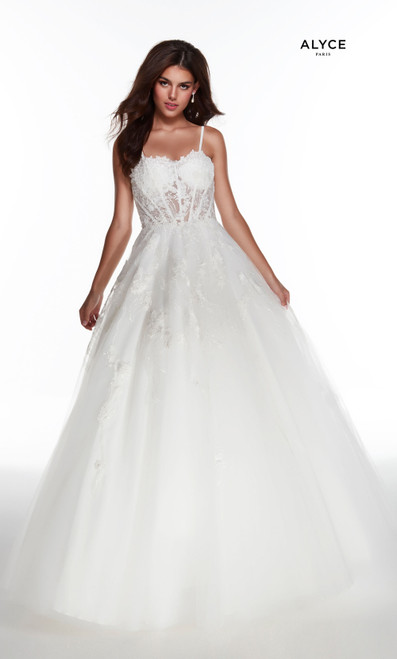 Alyce Paris 60895 Lace Up Back Sweetheart Long Ballgown
