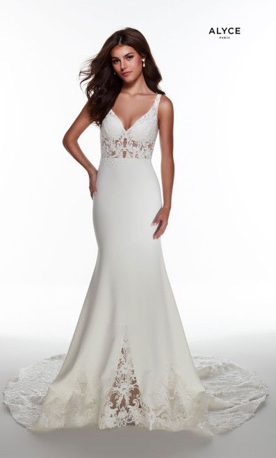 Alyce Paris 60946 V-neck Keyhole Back Mermaid Long Gowns