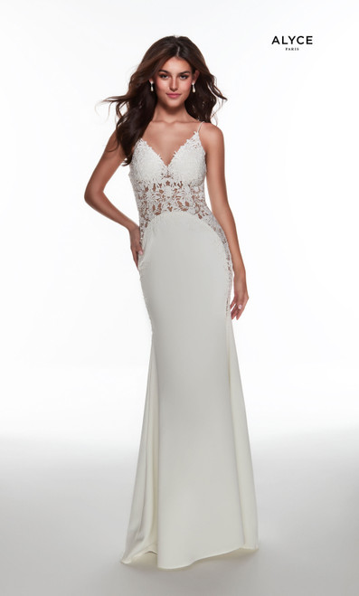 Alyce Paris 60965 V-neck Fit N Flare Long Gowns