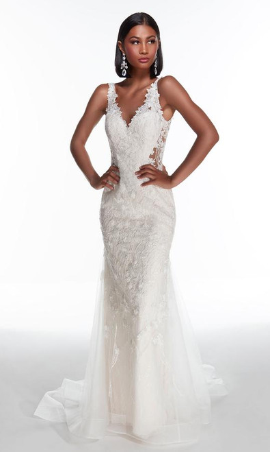 Alyce Paris 7017 Sequined Lace Sheath Bridal Gown