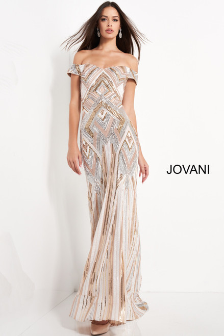 Jovani 04813 Off Shoulder Evening Dress