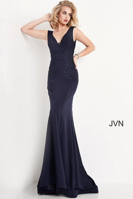 Jovani Prom JVN02310 Embroidered V-Neck Dress