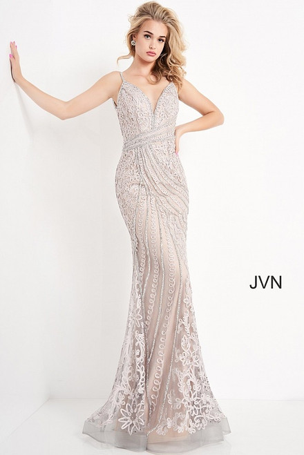 Jovani Prom JVN04514 Open Back Embellished Dress