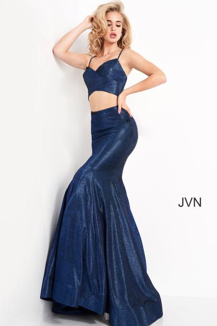 Jovani Prom JVN04559 Godet Skirt Two Piece Dress