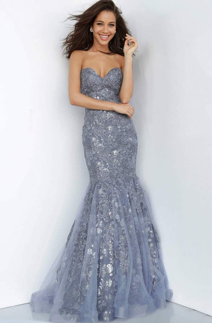 Jovani Prom JVN04784 Strapless Sweetheart Lace Mermaid Gown