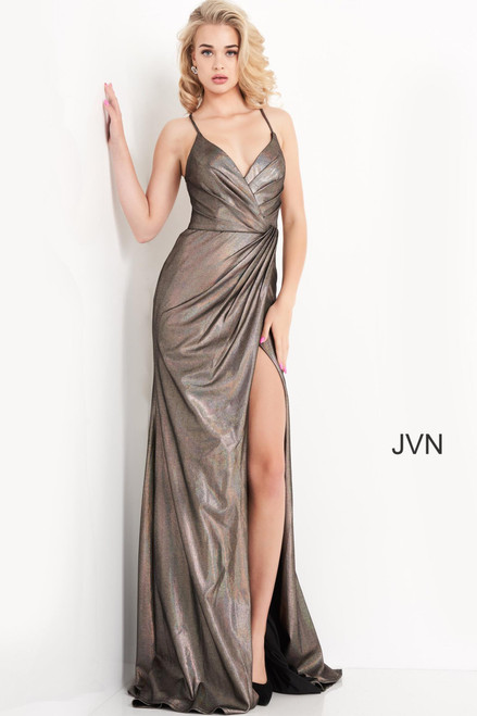 Jovani Prom JVN04794 Spaghetti Strap Wrap Dress
